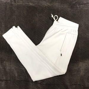 Adidas white track pant